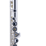 303BOS Intermediate Flute, Sterling Silver Headjoint, Silver Plated Body, Open-Hole, B Foot, Offset G, Case